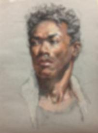 Desi III - 11x15 Trois Crayon on Grey pa