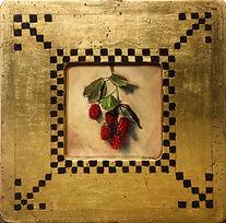 Venetian Frame - ripening blackberries