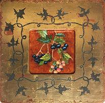Venetian Frame - trumpet vine berries