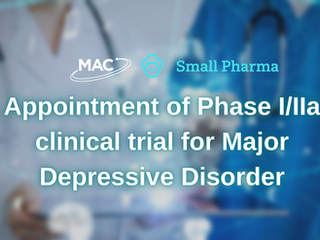 MAC Clinical Research has been appointed to accelerate timeline of Phase I/IIa clinical trial