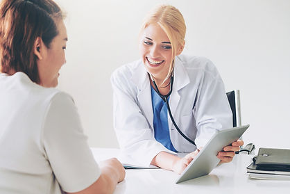 Doctor with patient at MAC Clinical Research