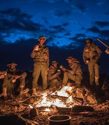 Rangers at night.