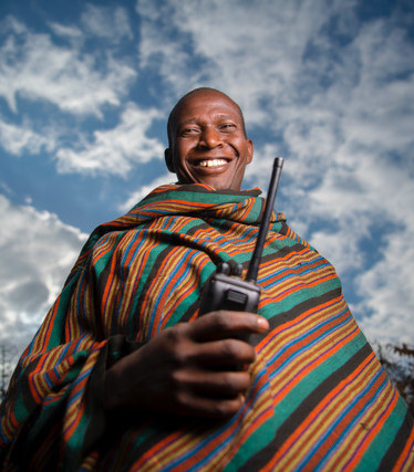 Livestock herders with radio. Image: Ami Vitale