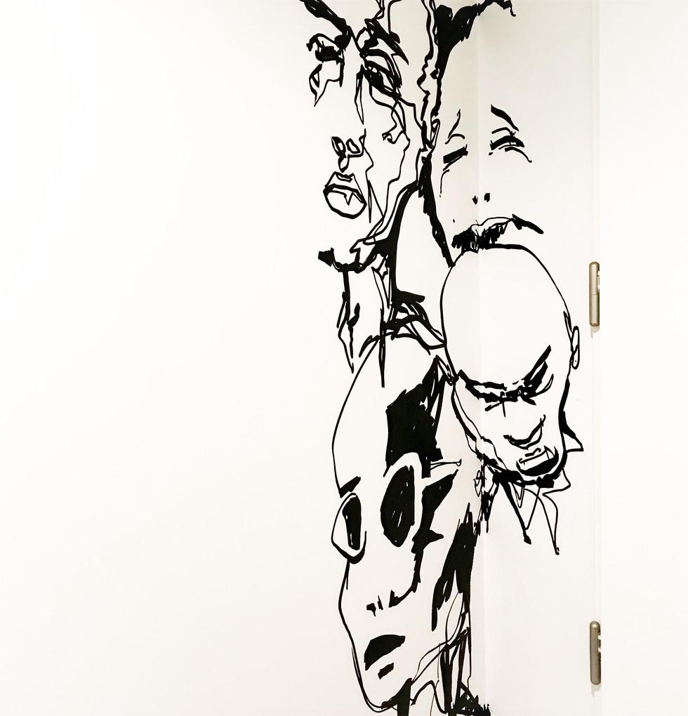 Fresque murale angle