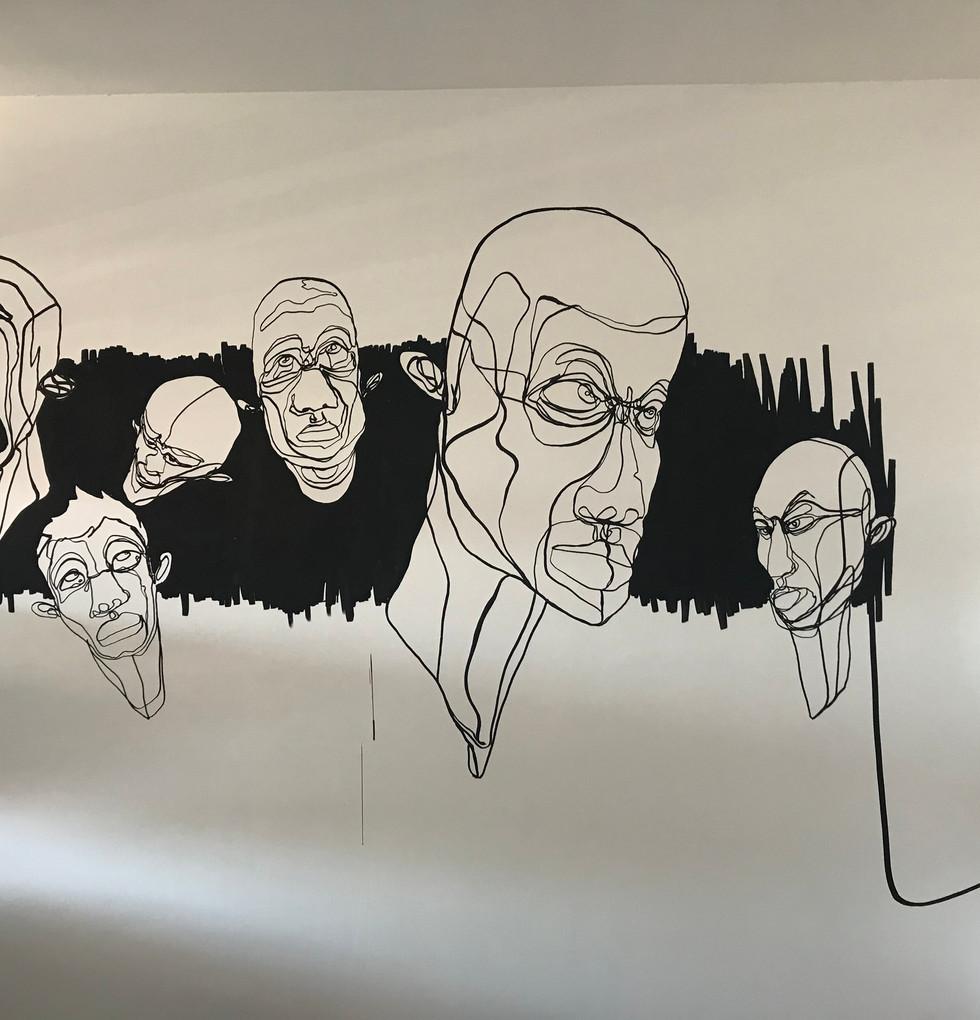 Fresque murale salon 2