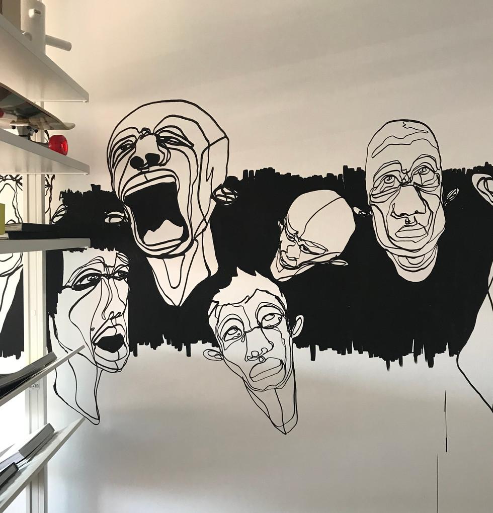 Fresque murale salon 3