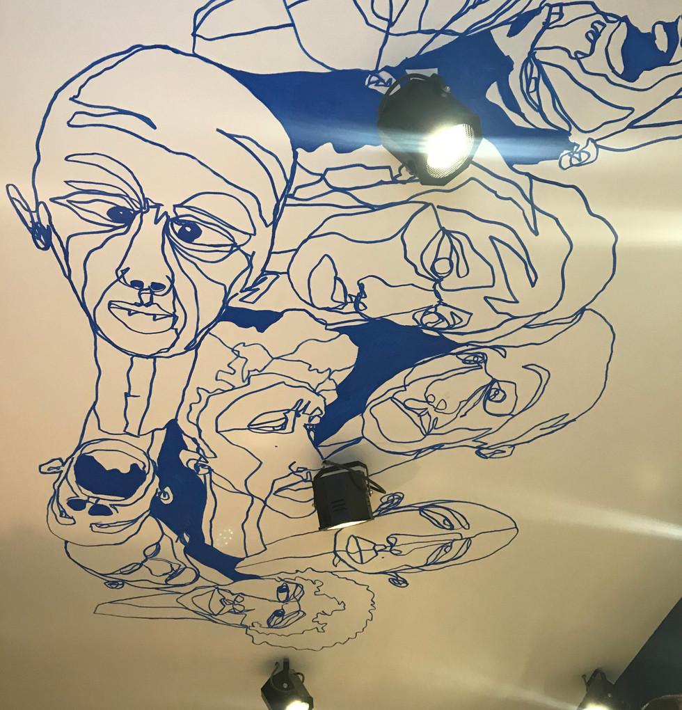 Fresque Plafond salon FATCH Marseille