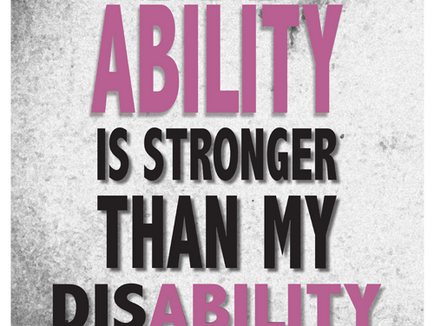 Disability can't take my ability