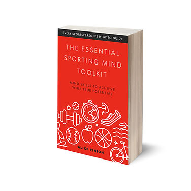 The Essential Sporting Mind Toolkit paperback book by Alice Pinion of Head First Sports Peformance