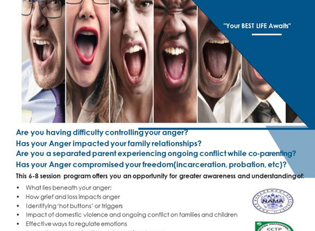 Anger Management Psychoeducational Groups (Not your typical Anger Mgt. Program)! STARTS August 2018