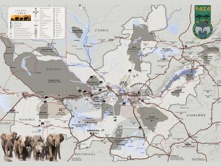 Hamilton-Fynch Tourist Map for KAZA