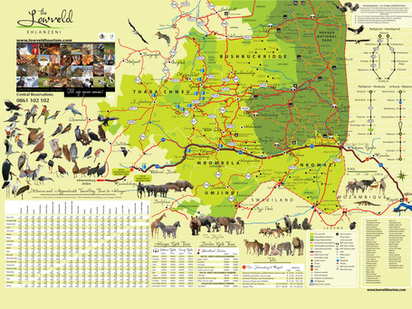 Tourism Map of the Lowveld