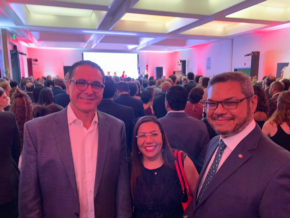 With Erick Alma, president of Haina International Terminal.