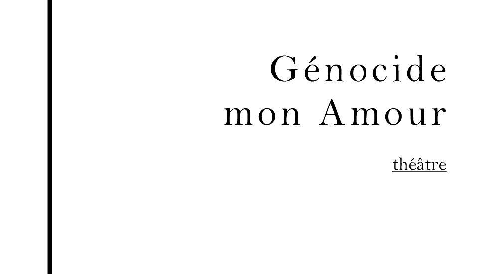 Génocide mon Amour