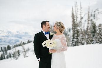 Winter Wedding at Snowbasin Resort in Huntsville