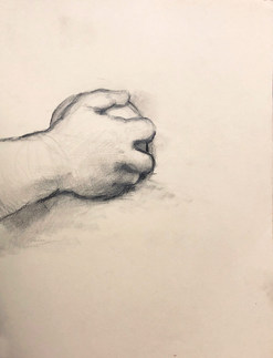 Study of Hand from Bougereau Painting