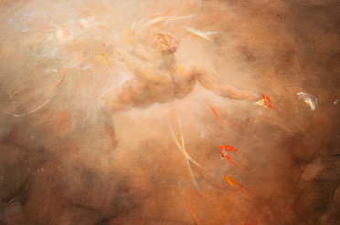 """Detail of """"Fire of Rebirth"""""""