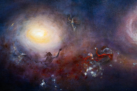 """Detail of """"Colliding Galaxies"""""""