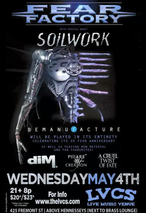 Dogz of Society at LVCS in Las Vegas  With Fear Factory and Soilwork ..