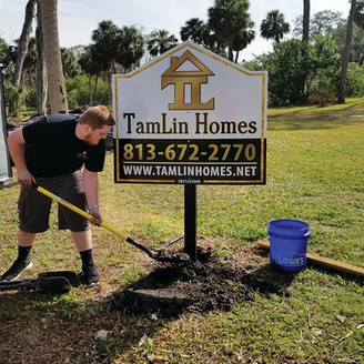 Tamlin Homes Custom Builder Site Sign