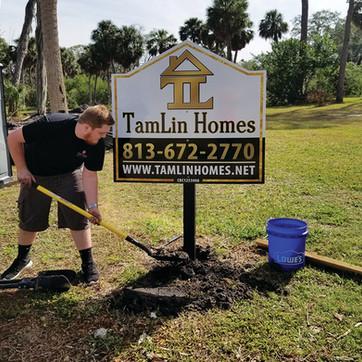 Tamlin Homes Custom Builder Site Sign
