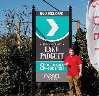 Cardel Homes Custom Builder Site Sign