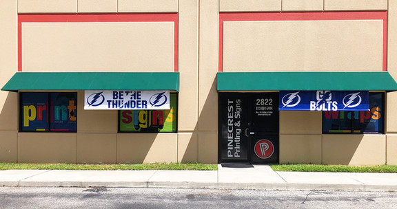 Pinecrest Printing Lightning Outdoor Banners