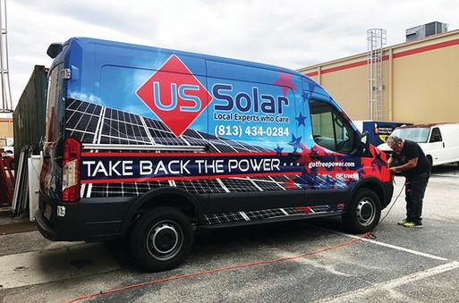 US Solar Complete Wrap, Design, Print, Install