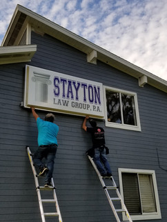 Stayton Law Group Lighted Pan Face Sign