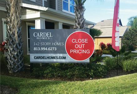 Cardel Homes Custom Builders Site Sign