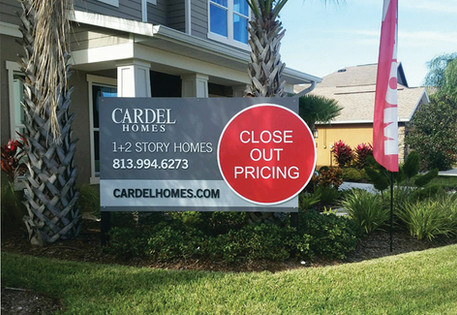 Cardel Homes Custom Builders Site Sign