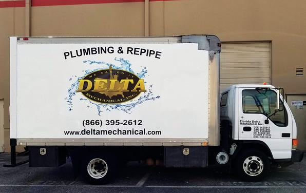 Delta Plumbing & Repipe Fleet Vehicle Wrap