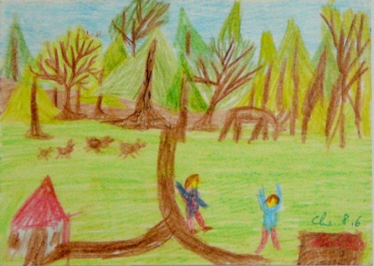 Wir Kinder am Waldrand