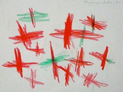 Kreuze in der Kinderzeichnung