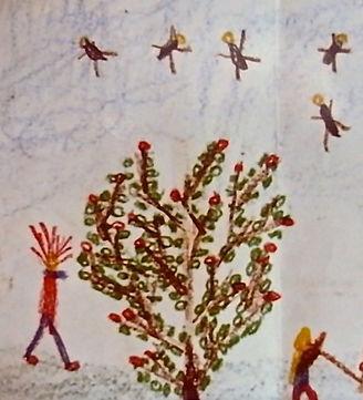 Der Baum und wilde Bienen