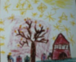 Bei Nacht im Schatten des Baumes