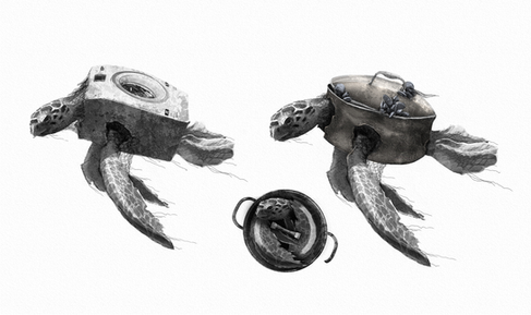 Animal/pollution hybrid concept for my graduation film Hybrids. Photoshop.
