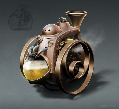 Design for Heinkein - Beer robot. Zbrush, Photoshop