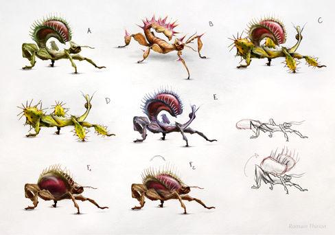 Stick bugs concept, Photoshop
