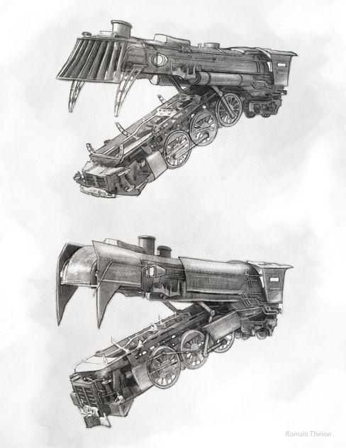 Concept for short film. Pencil, Photoshop