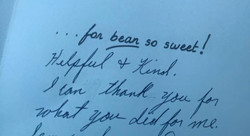 Card from Discharged Patient