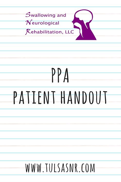 PPA Handout