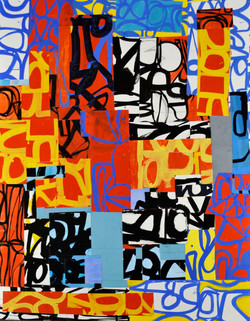 Pontiac gouache on paper mounted on canvas 60 x 47 inches 2011.jpg