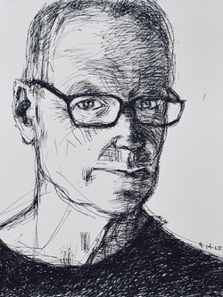 Peter Crow self- portrait #2 ink 12 x 9_ 2017 .jpg