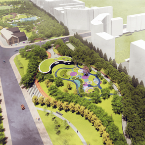 临港新城主城区WNW-C1街坊公共绿地·体育公园