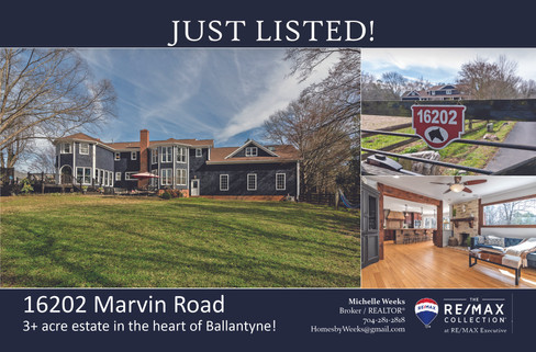 Card_Front Just Listed 16202 Marvin Road