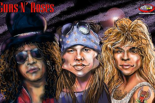 Guns N' Roses Digital Print