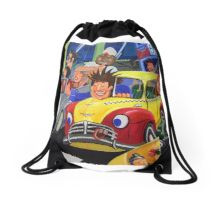 Road Rage Drawstring Bag