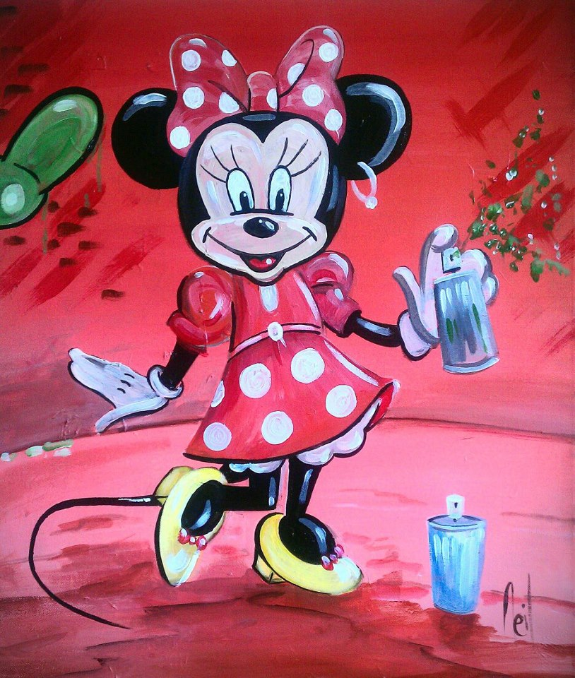 Grafitti Minnie