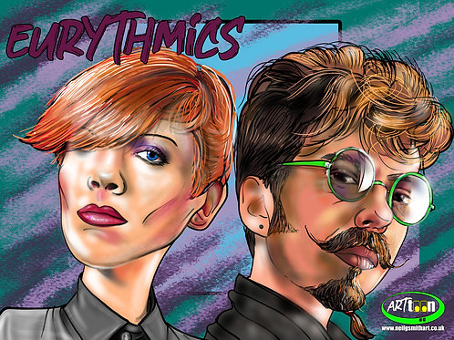 Eurythmics Digital Print